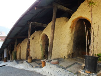 信楽陶芸村の登り窯カフェ 外観