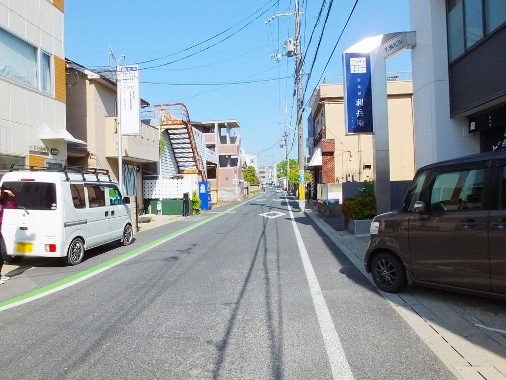 店の前の道路