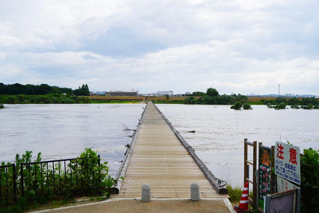 流れ橋の画像
