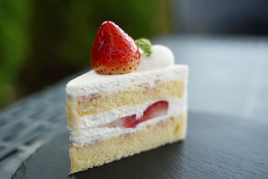 苺のショートケーキの画像