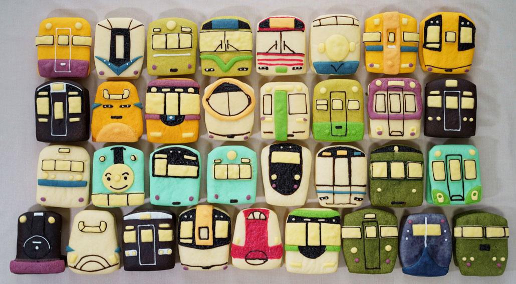 電車パンの集合写真