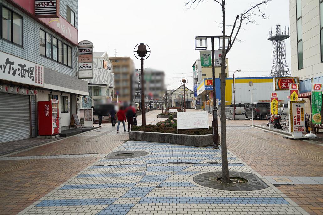 田辺大通り沿いの画像