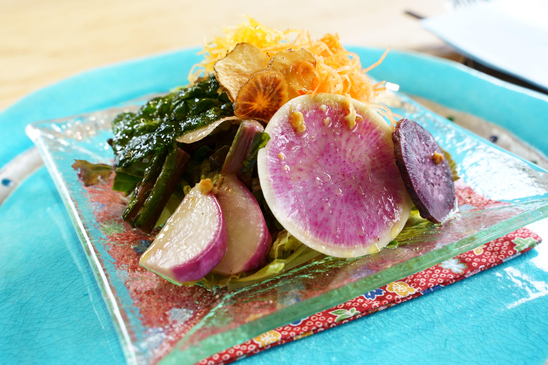 無農薬野菜達のサラダ