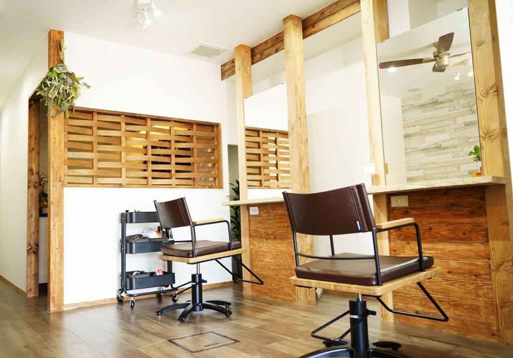 美容室「Irie / アイリー」店内写真1