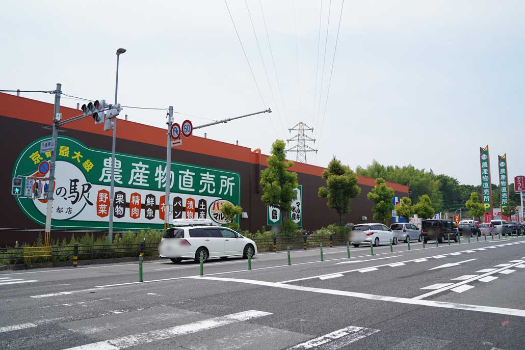 道路側から見た旬の駅