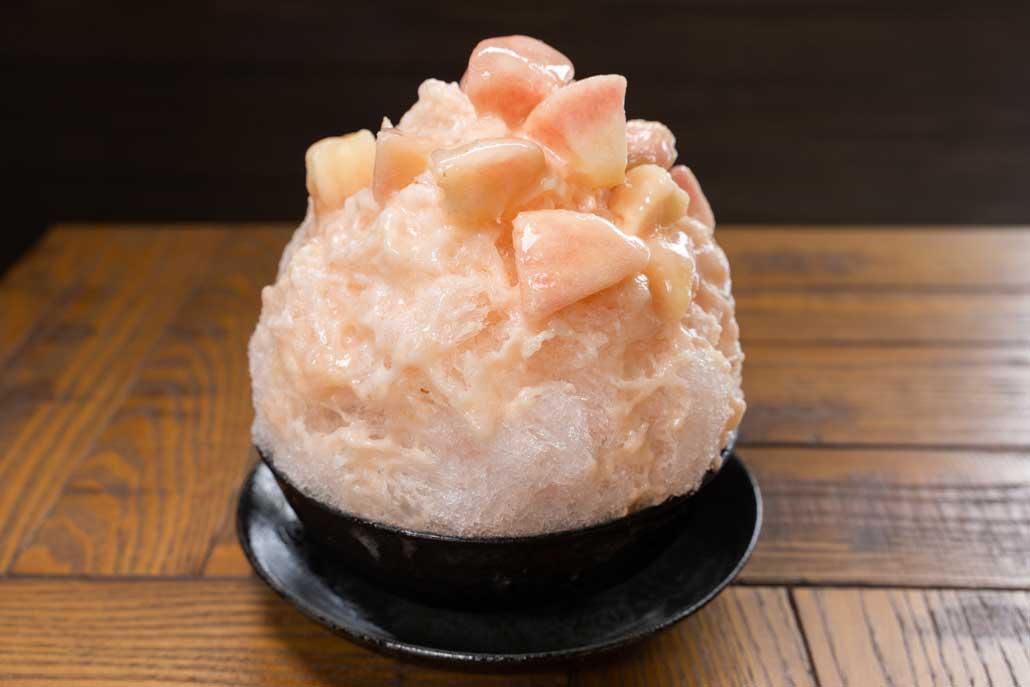 千馬MIYABI 白桃のかき氷画像