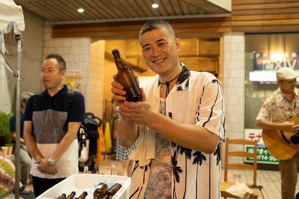 クラフトビール夜市2019中川さん画像