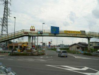 撤去される歩道橋