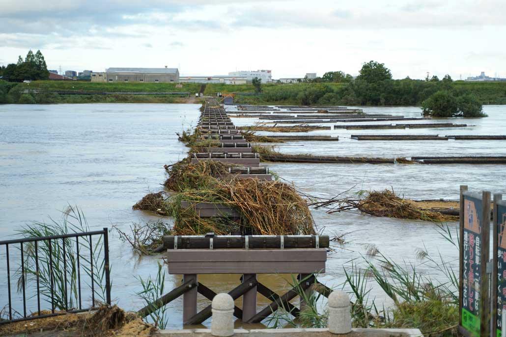 台風19号、流れ橋の画像1