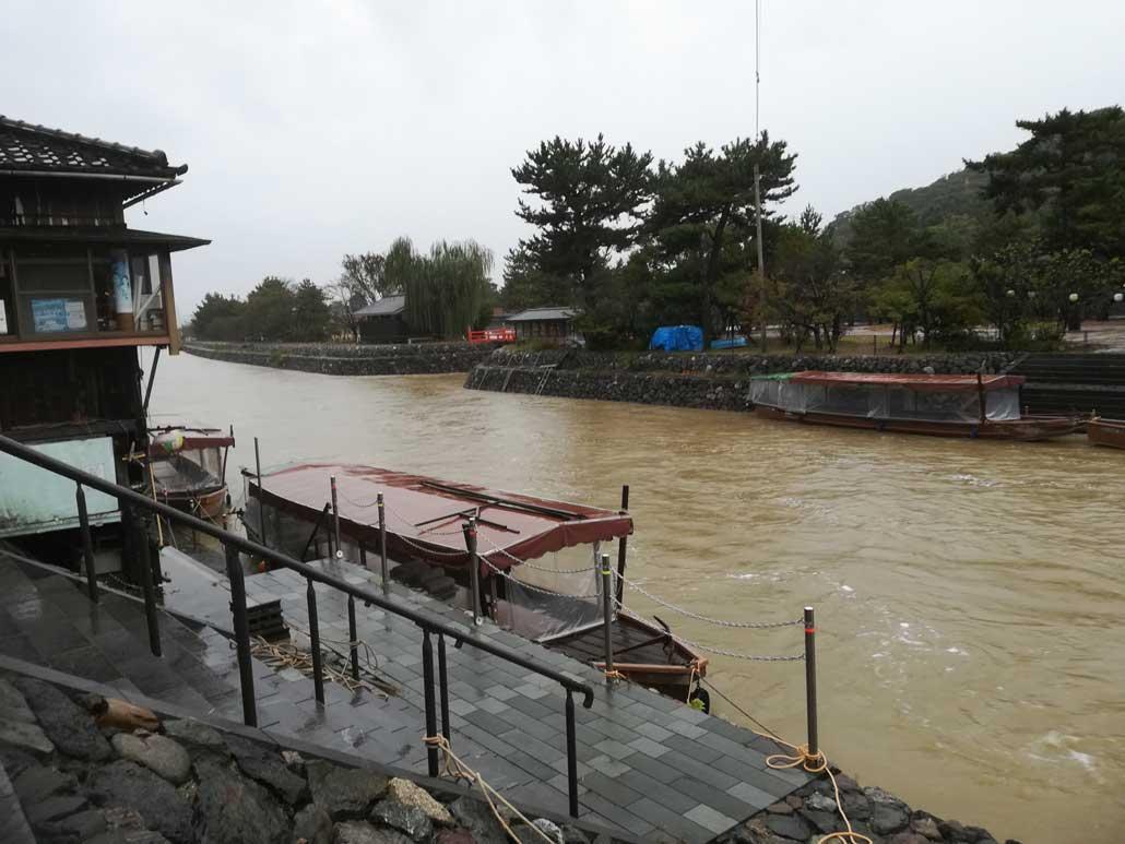 台風19号、宇治川の画像