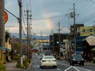 こども動物園や松花堂庭園・美術館から見えた虹の画像