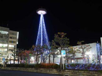 近鉄新田辺駅前のイルミネーションの画像