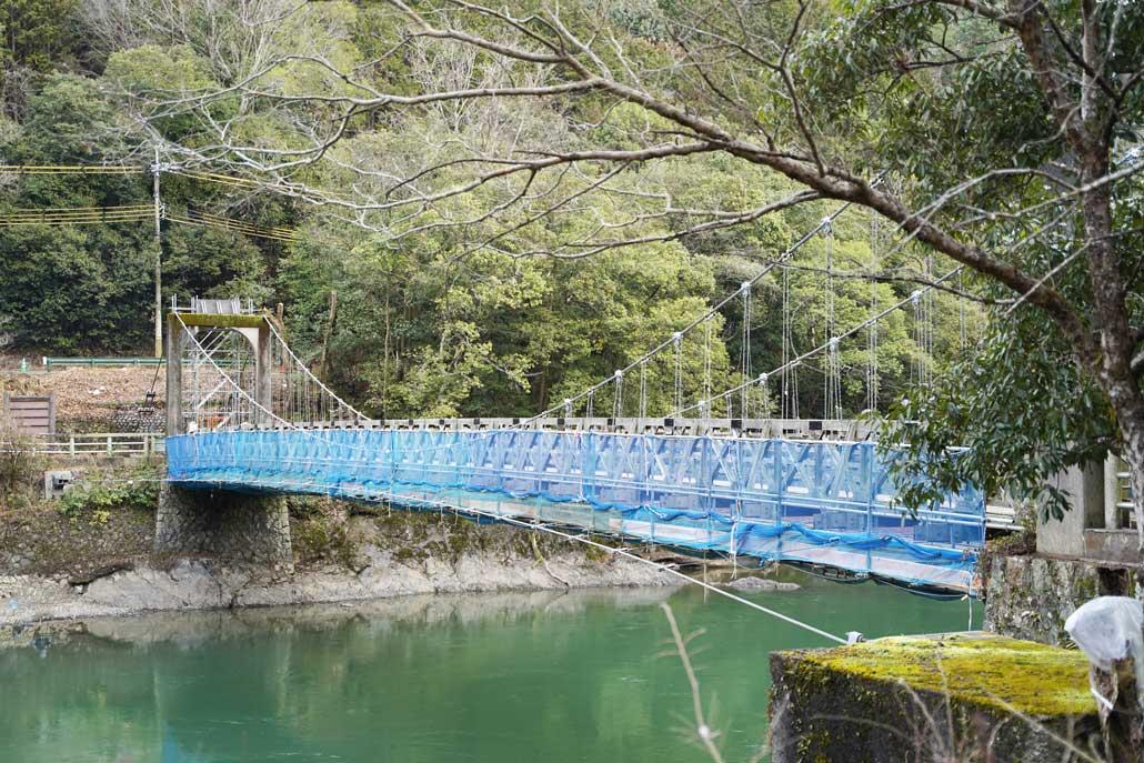 「天ヶ瀬吊橋」補修工事画像2