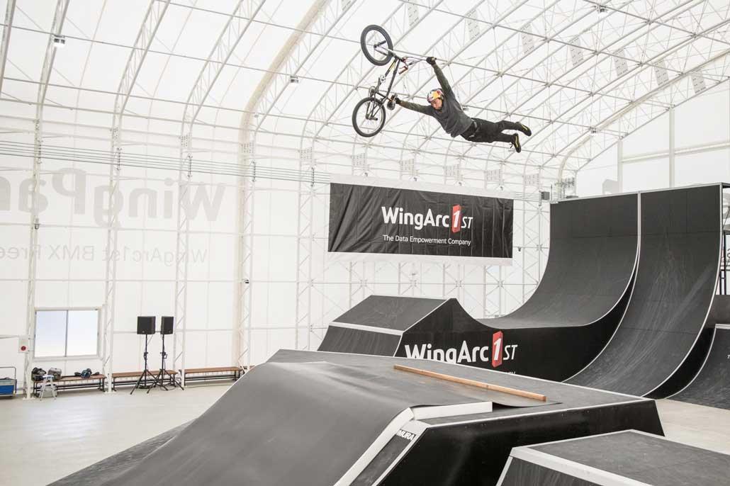 「WingPark1st (WingArc1st BMX Freestyle Park)」披露画像