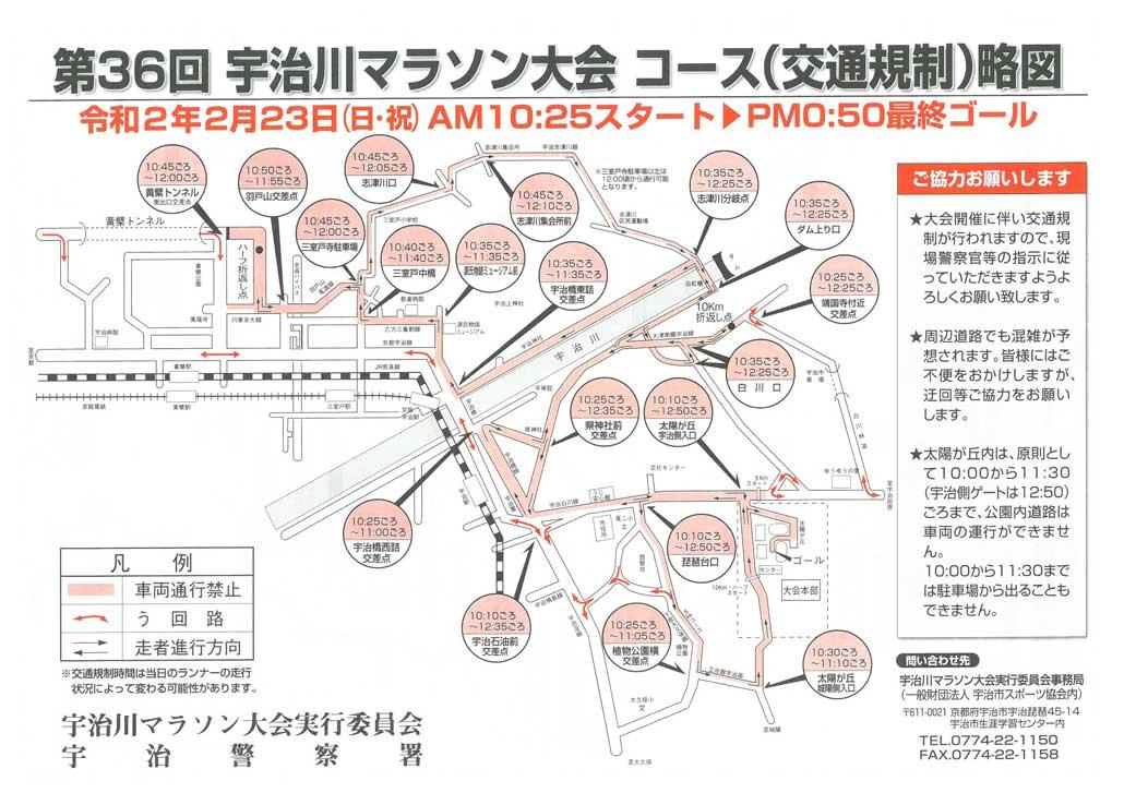 宇治川マラソン大会コースの画像