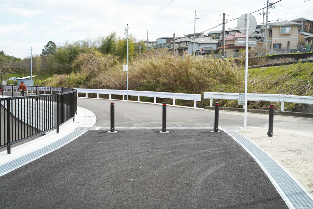 自転車歩行者専用道路「市道山手東上西野線」の画像4