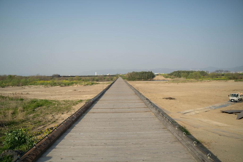 流れ橋(八幡から)の画像