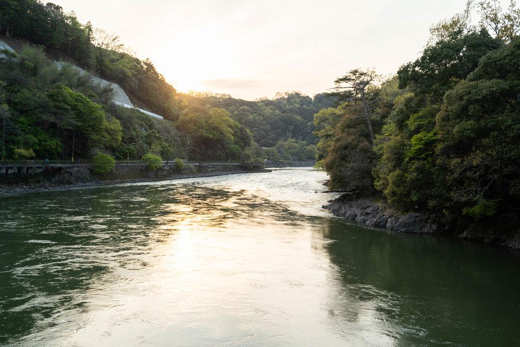 橋から見た宇治川の画像