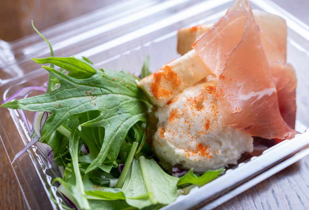 「生ハムとクリームチーズのポテトサラダ」の画像