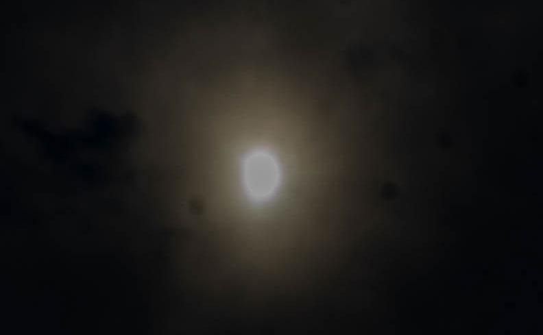 部分日食の画像