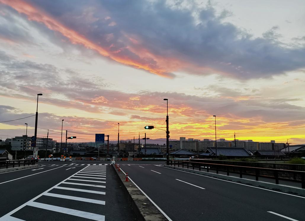 いんげん橋からの夕暮れ画像