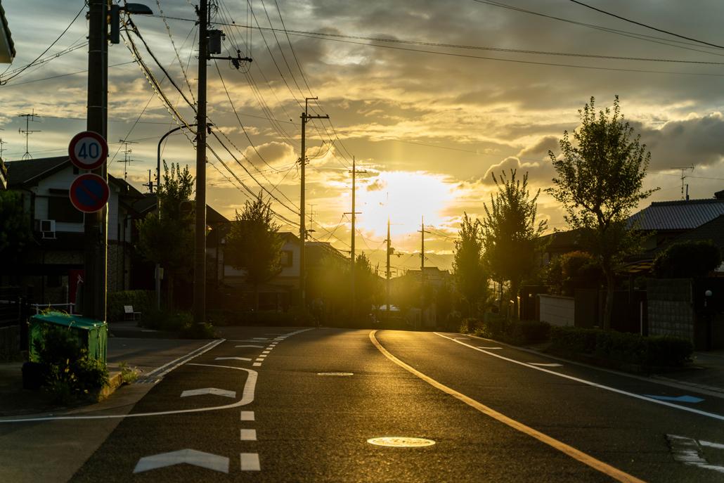9月2日の夕日の画像
