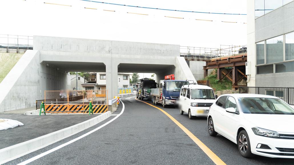開通した道路の画像