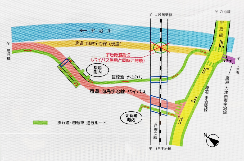 向島宇治線(バイパス)MAP画像