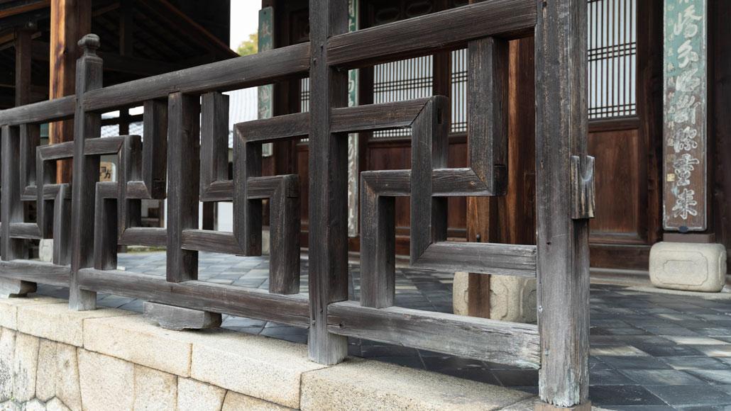 卍(まんじ)の勾欄の画像