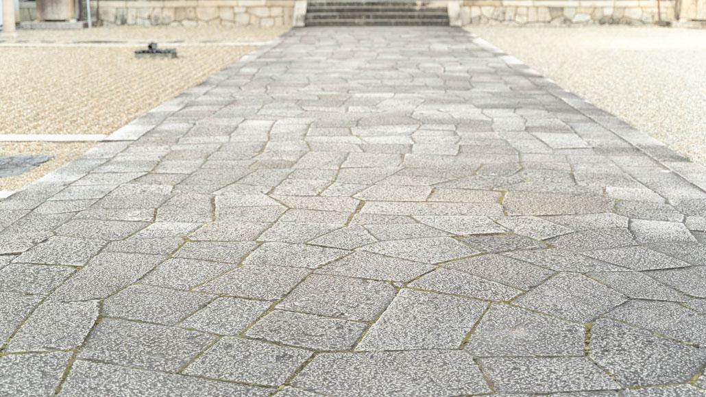 石畳の道の画像