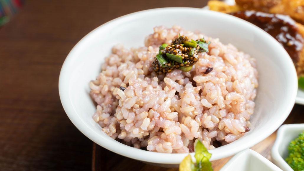 「食堂 山小屋」玄米ご飯の画像