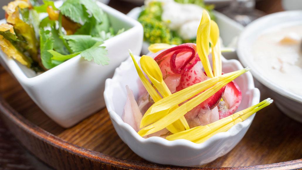 「食堂 山小屋」赤カブのお料理の画像