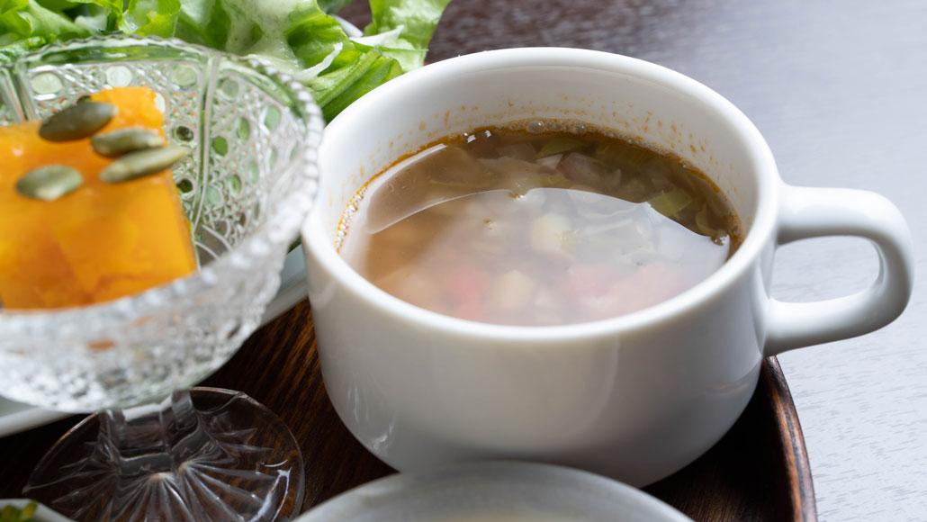 「食堂 山小屋」スープの画像