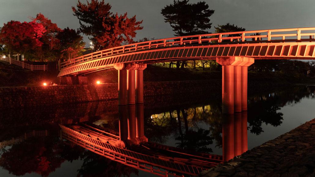 「京都・宇治灯りのみち」橘橋の画像