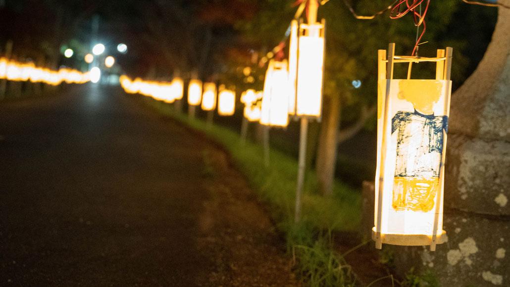大御堂観音寺の竹灯籠点灯の画像2