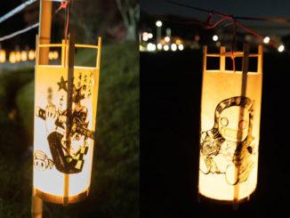 大御堂観音寺の竹灯籠点灯の画像1