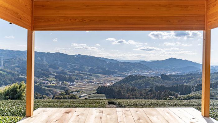 和束茶おもてなし茶室からの景色の画像