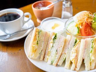「山村珈琲工房」サンドイッチトーストのサラダセット画像