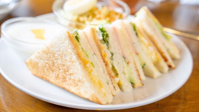 「山村珈琲工房」サンドイッチトーストのサラダセット画像2