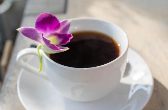 コーヒーのアップの画像