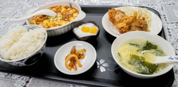 麻婆豆腐定食の画像