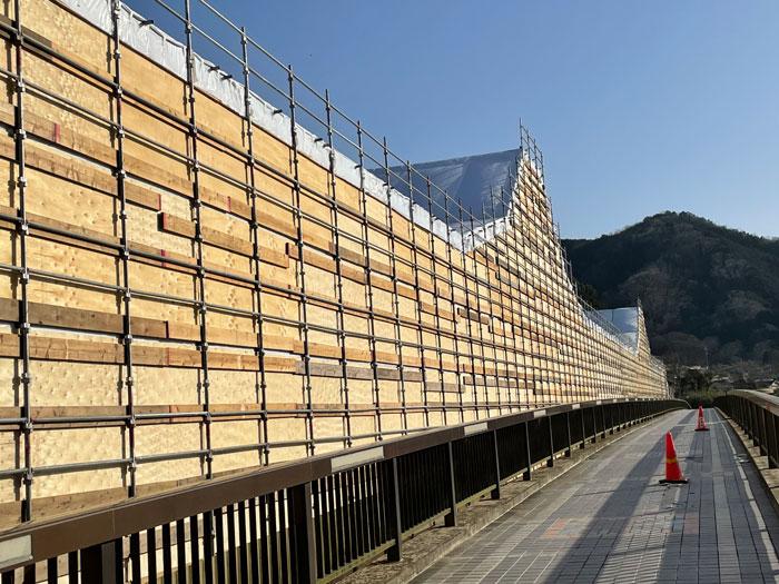 笠置大橋側道の画像