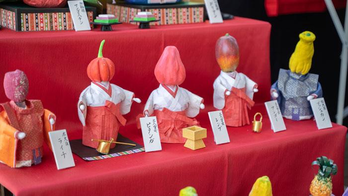 トロピカルフルーツ雛飾り中段の画像