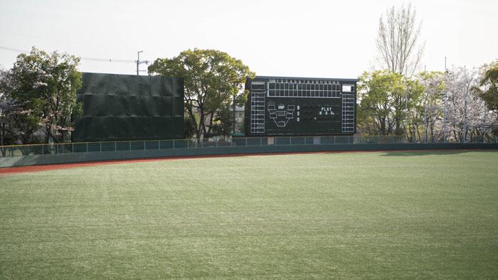「黄檗公園野球場」と桜の画像2