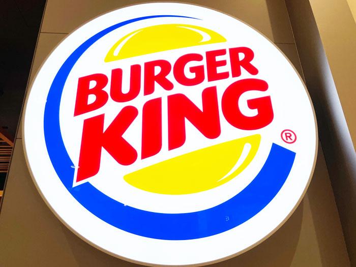 バーガーキングの看板画像