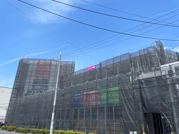 工事中のイオンタウン久御山の画像