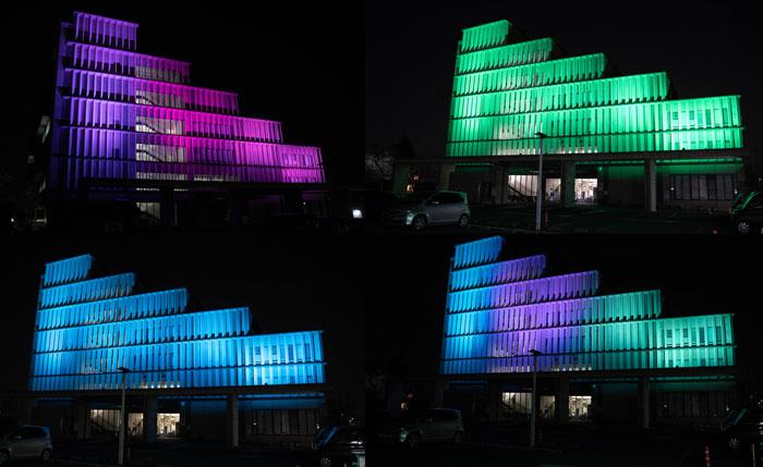 木津川市役所ライトアップの画像