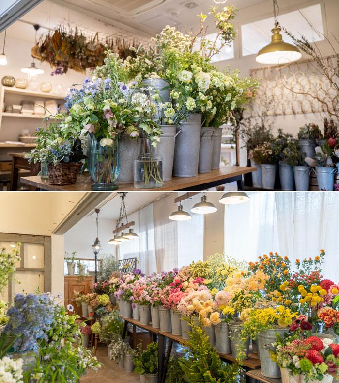 生花コーナーの画像