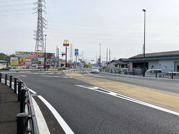 木津奈良道交差点の画像