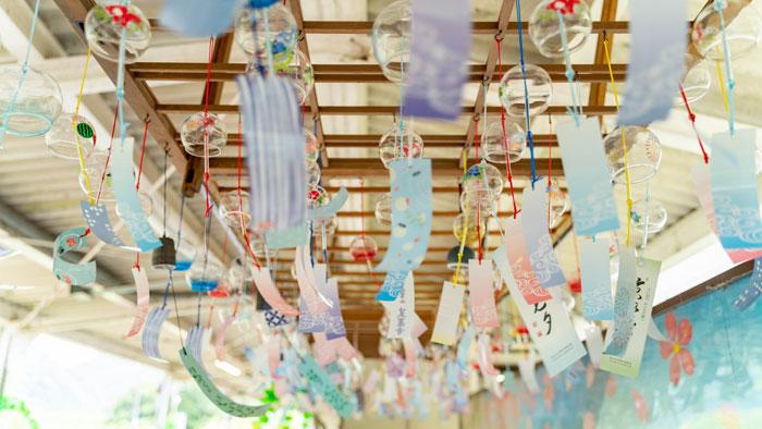 JR笠置駅の風鈴の画像2